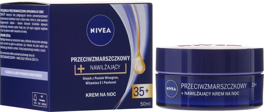 """Crema da notte """"Energia della giovinezza + elasticità"""" 35+ - Nivea Anti-Wrinkle Moisture Night Cream 35+"""