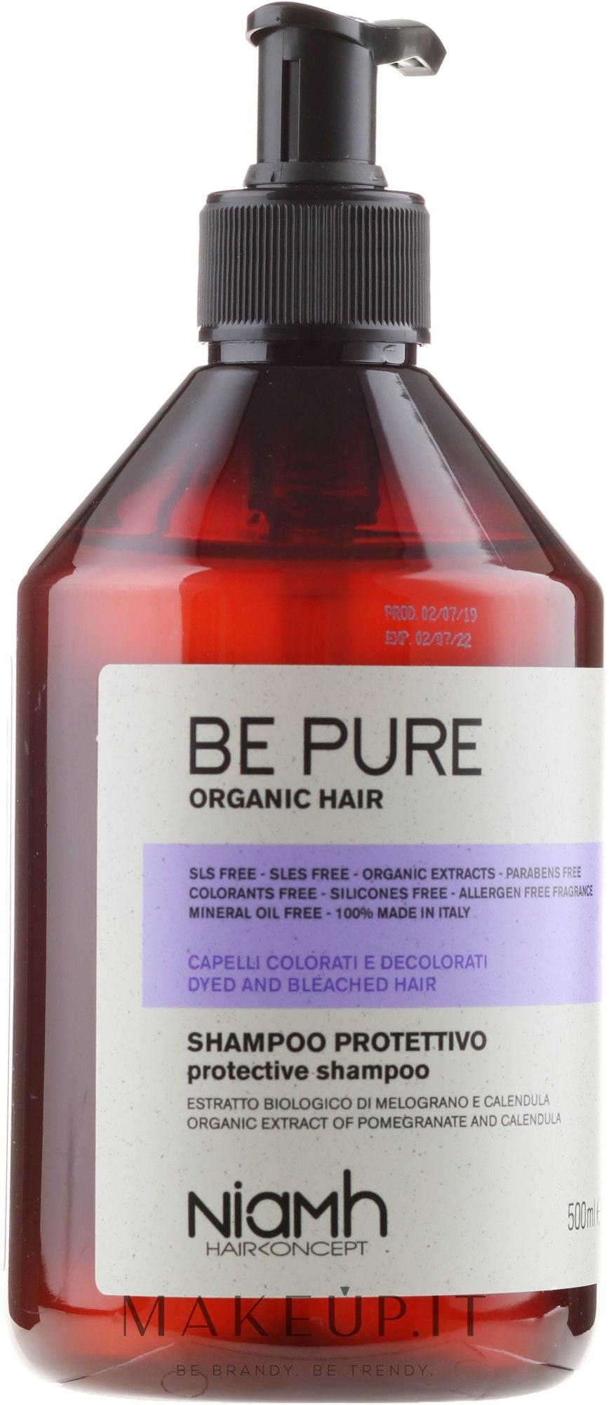 Shampoo protettivo per capelli colorati e decolorati - Niamh Hairconcept Be Pure Protective Shampoo — foto 500 ml