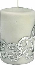 Profumi e cosmetici Candela decorativa, grigia con decorazione, 7x10 cm - Artman Christmas Ornament