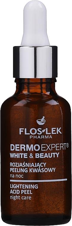 Peeling schiarente - Floslek White & Beauty Night Peeling