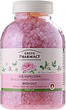 """Profumi e cosmetici Sale da bagno """"Noce moscata rosa e tè verde"""" - Green Pharmacy"""