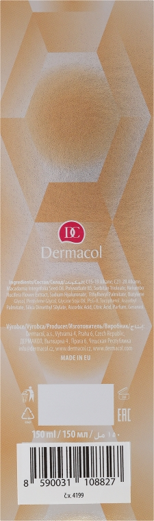 Olio detergente viso con acido ialuronico - Dermacol Hyaluron Therapy 3D Cleansing Oil — foto N3