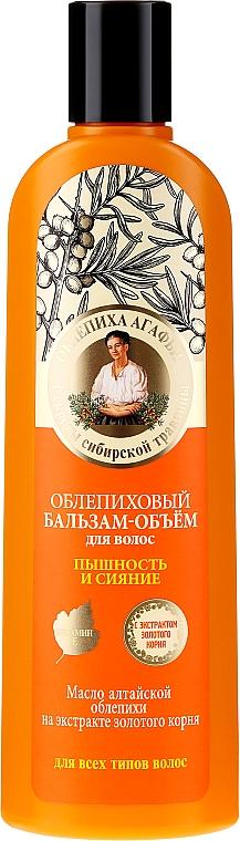 Balsamo per capelli all'olivello spinoso - Ricette di Nonna Agafya