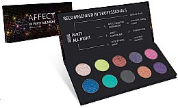 Profumi e cosmetici Palette ombretti - Affect Cosmetics Party All Night Eyeshadow Palette