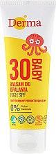 Profumi e cosmetici Balsamo solare per bambini, con grado alto di protezione - Derma Eco Baby Sun Screen High SPF30