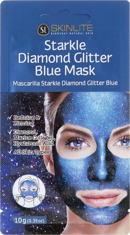 Maschera esfoliante brillante - Skinlite Starkle Diamond Glitter Blue Mask