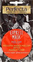 Profumi e cosmetici Maschera peel off con carbone di legno - Perfecta Express Mask Peel-Off Detox