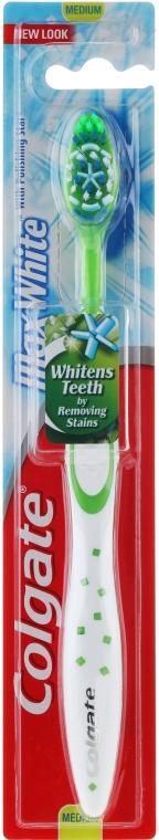 """Spazzolino da denti """"Max White"""",durezza media, bianco-verde - Colgate Max White Medium With Polishing Star — foto N1"""