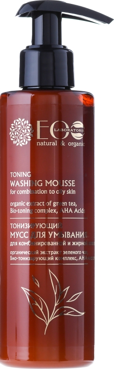 Mousse tonificante con acidi AHA - Eco Laboratorie Toning Washing Mousse