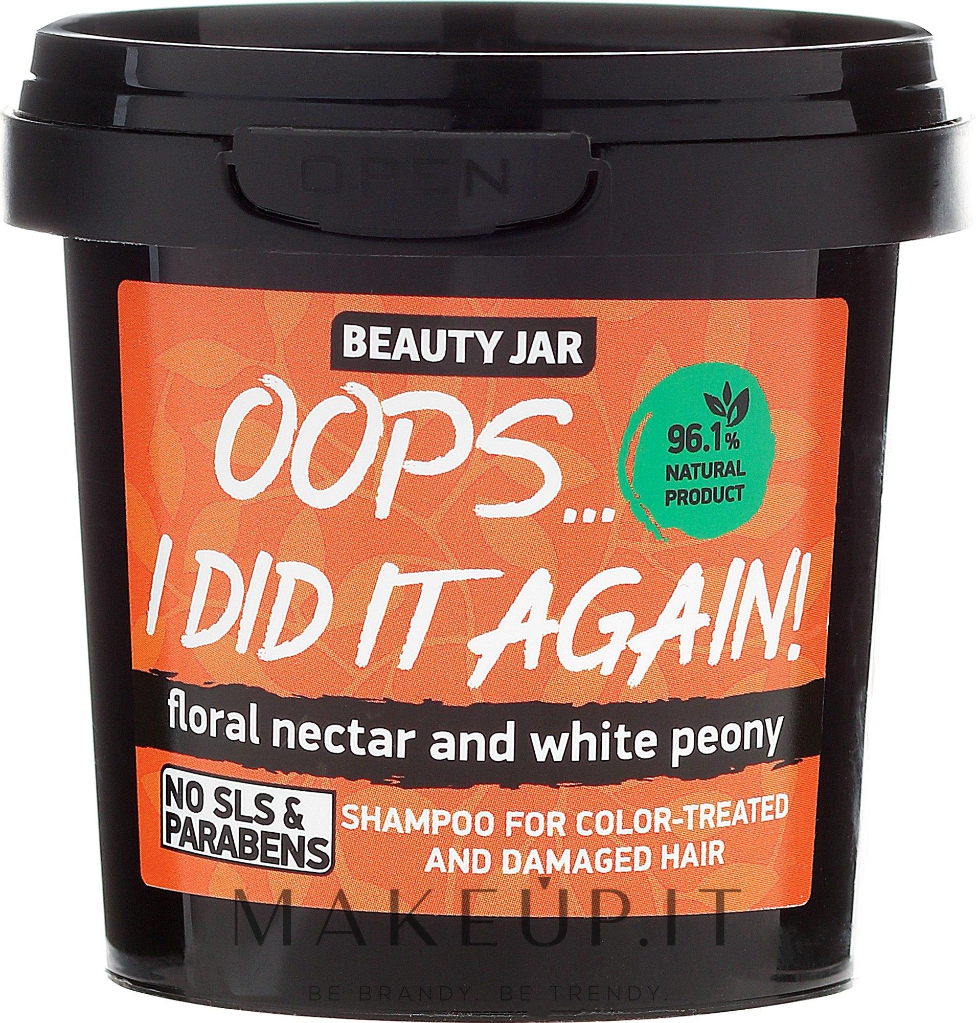 """Shampoo per capelli tinti e danegiati """"Oops…I did it again!"""" - Beauty Jar Shampoo For Colour-Treated And Damaged Hair — foto 150 g"""