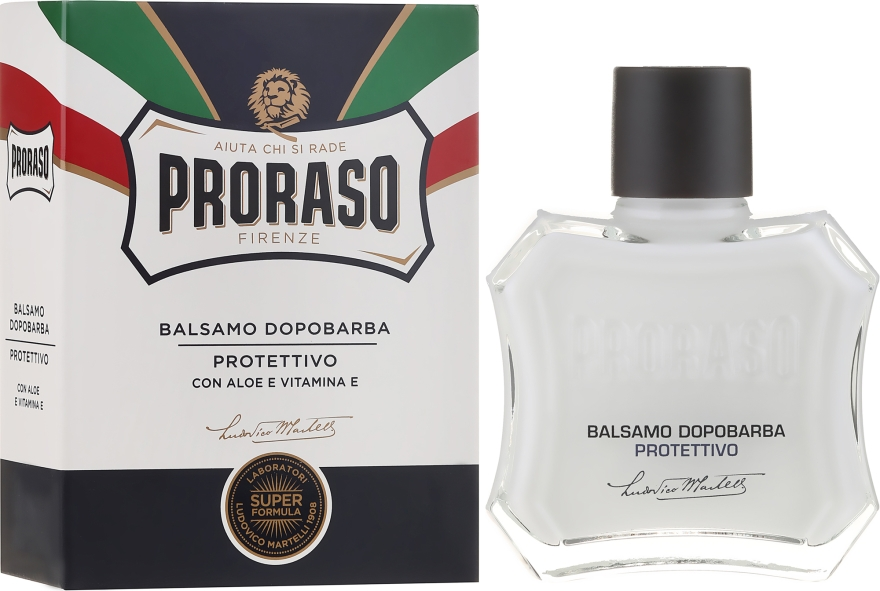 Balsamo dopobarba con aloe e Vitamina E - Proraso Blue Line After Shave Balm Super Formula