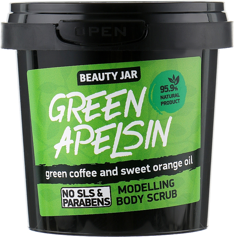 "Scrub corpo modellante ""Green Apelsin"" - Beauty Jar Modelling Body Scrub"