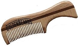Profumi e cosmetici Pettine per barba in eco legno, 9,5 cm - Golden Beards Eco Moustache Comb