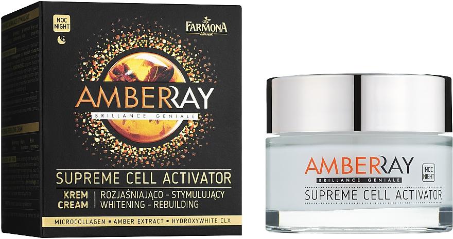 """Crema viso notte """"Attivatore cellulare"""" - Farmona Amberray Night Cream"""