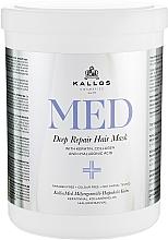 Profumi e cosmetici Maschera rigenerante intensiva - Kallos Cosmetics MED Deep Repair Hair Mask