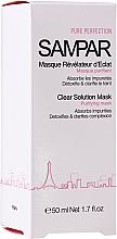Profumi e cosmetici Maschera purificante per pelli grasse e miste - Sampar Clear Solution Mask