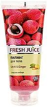 """Profumi e cosmetici Scrub corpo """"Litchi e zenzero"""" - Fresh Juice Litchi & Ginger"""