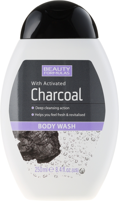 Gel doccia - Beauty Formulas Charcoal With Activated Body Wash