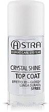 Profumi e cosmetici Top coat - Astra Make-up Crystal Shine Top Coat