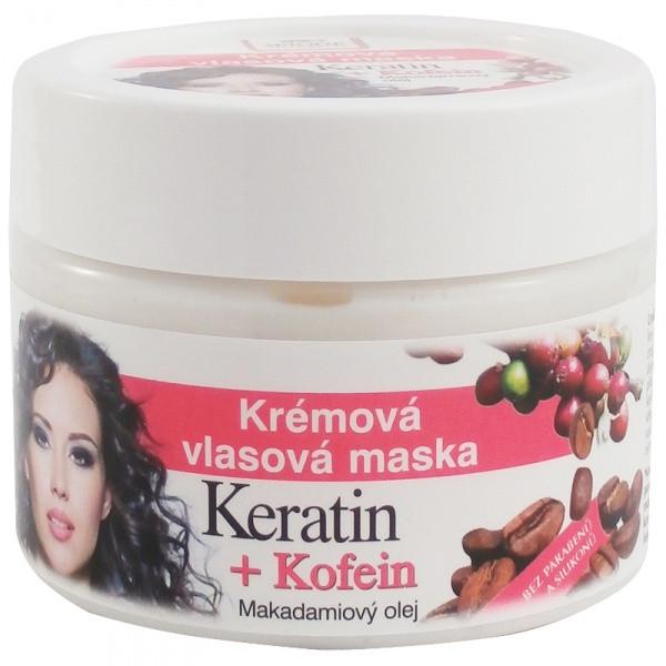 Crema-maschera capelli - Bione Cosmetics Keratin + Caffeine Cream Hair Mask