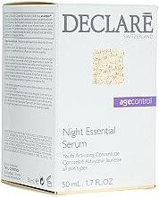 Profumi e cosmetici Siero riparatore notturno per viso - Declare Age Control Night Repair Essential Serum