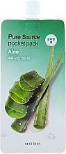 Maschera con estratto di aloe vera, da notte - Missha Pure Source Pocket Pack Aloe — foto N1