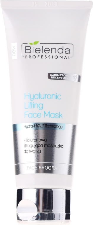 Maschera lifting all'acido ialuronico - Bielenda Professional Hydra-Hyal Injection Hyaluronic Lifting Face Mask
