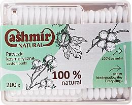 Profumi e cosmetici Bastoncini cotonati, 200 pezzi - Cashmir Natural Cotton Buds (in scatola)