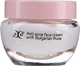 Profumi e cosmetici Crema viso lenitiva all'olio di rosa - Hristina Cosmetics Rose Anti Acne Face Cream