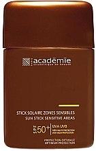Profumi e cosmetici Matita protettiva per aree sensibili - Academie Sun Stick Sensitive Areas SPF 50+