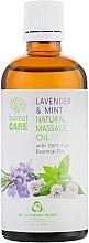"""Profumi e cosmetici Olio da massaggio """"Lavanda e menta"""" - Bulgarian Rose Herbal Care Natural Massage Oil"""
