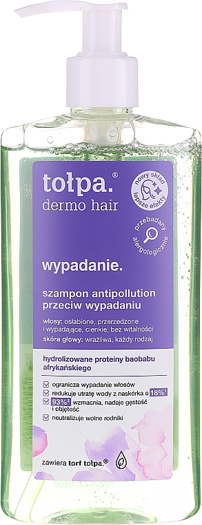 Shampoo anticaduta con proteine del baobab africano - Tolpa Dermo Hair Anti Hairloss Shampoo