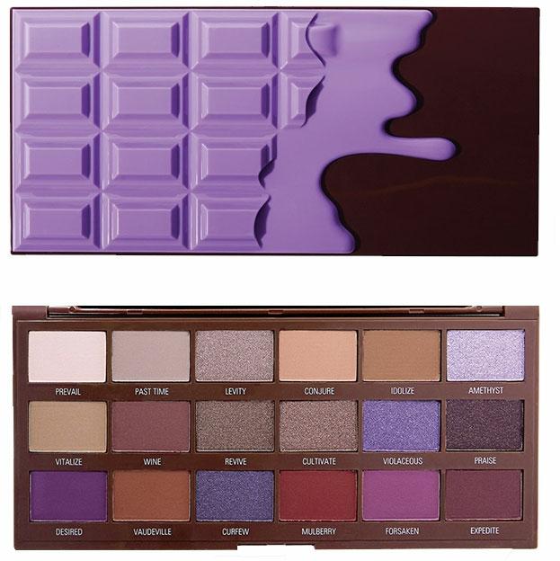 Palette ombretti, 18 tonalità - I Heart Revolution Eyeshadow Palette Violet Chocolate