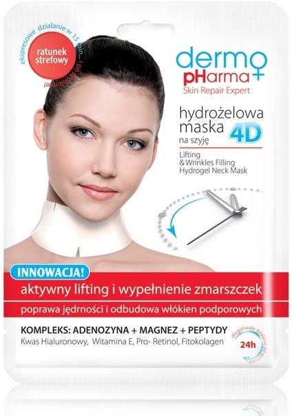 """Maschera per collo Idrogel 4D """"Sollevamento attivo e riempimento delle rughe"""" - Dermo Pharma 4D Lifting & Wrinkles Filling Hydrogel Neck Mask — foto N1"""
