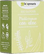 Profumi e cosmetici Sapone con estratto di aloe e olio d'oliva - La Saponaria Aloe Soap