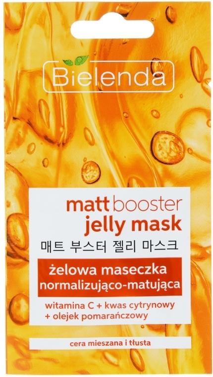 Maschera gel opacizzante per la pelle grassa e mista - Bielenda Matt Booster Jelly Mask