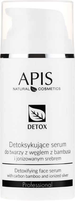 Siero-detox per la pelle grassa e mista - APIS Professional Detox Detoxifying Face Serum With Carbon Bamboo And Ionized Silver