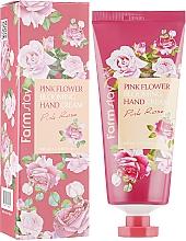 Profumi e cosmetici Crema mani all'estratto di rosa - FarmStay Pink Flower Blooming Hand Cream Pink Rose