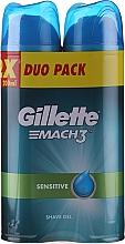 Profumi e cosmetici Set - Gillette Mach3 Complere Defense Sensitive Shave Gel (sh/gel/200ml + sh/gel/200ml)