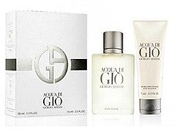 Profumi e cosmetici Giorgio Armani Acqua di Gio Pour Homme - Set (edt/50ml + a/sh/balm/75ml)