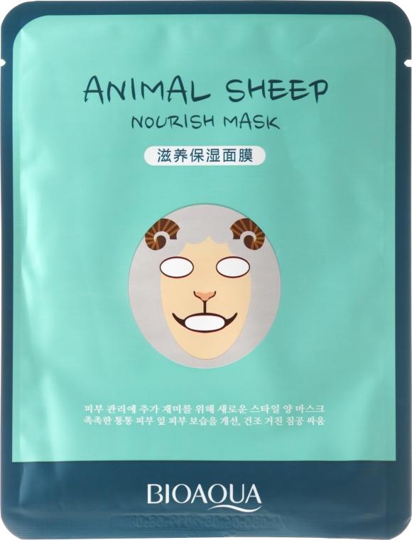 """Maschera in tessuto per viso a forma di animale """"Pecorella"""" - Bioaqua Animal Sheep Nourish Mask"""