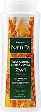 Profumi e cosmetici Shampoo condizionante al grano per capelli secchi e danneggiati - Joanna Naturia Shampoo With Conditioner With Wheat