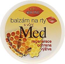 Profumi e cosmetici Balsamo labbra - Bione Cosmetics Honey + Q10 With Vitamin E and Bee Wax Lip Balm