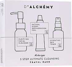Profumi e cosmetici Set - D'Alchemy 3 Step Ultimate Cleansing Travel Pack (toner/30ml + f/cleanser/50ml + f/peel/15ml)