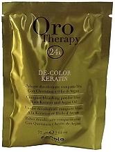 Profumi e cosmetici Polvere decolorante compatta blu alla cheratina e olio di Argan - Fanola Oro Therapy Color Keratin