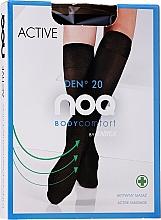 """Profumi e cosmetici Gambaletti con effetto massaggio ai piedi """"Active"""" 20 Den, grafit - Knittex"""