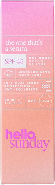 Siero solare viso - Hello Sunday The One That's A Serum Face Drops SPF 45 — foto N3