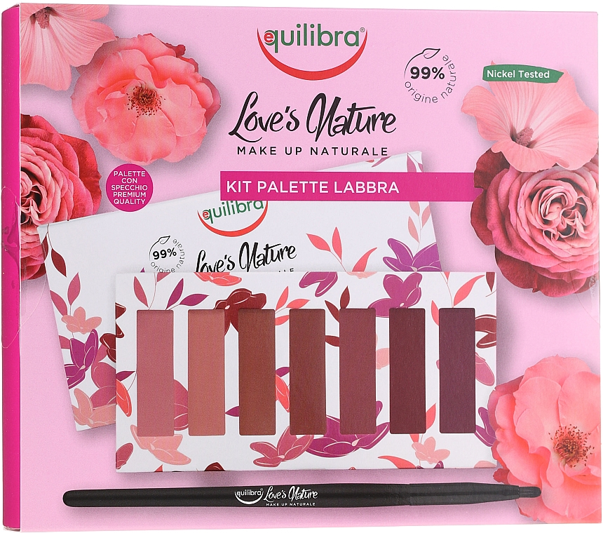 Set rossetto con pennello - Equilibra Love's Nature Lip Palette Kit