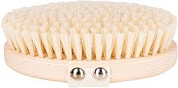Profumi e cosmetici Spazzola per massaggio e lavaggio del corpo fibra morbida, marrone chiaro - Miamed