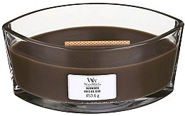 Profumi e cosmetici Candela profumata in vetro - Woodwick Hearthwick Flame Ellipse Candle Oudwood